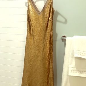Banana Republic gold sequin dress,  size 4 NWT